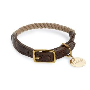FOUND MY ANIMAL Rope & Leather Dog Collar S